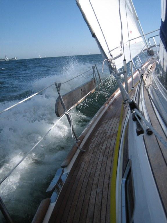 Hessenregatta 2008/ Wind immer noch NO 4-5 zunehmend