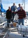 Hessenregatta 2008/ vier Mann und ein Boot