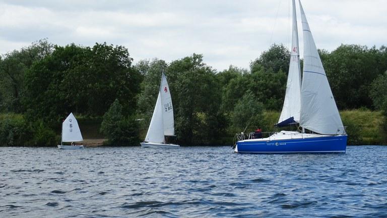 Drei Bootsgrößen Unterschied